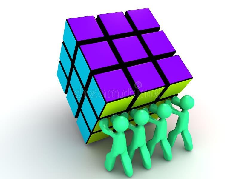 Één Kubus van Rubick royalty-vrije illustratie