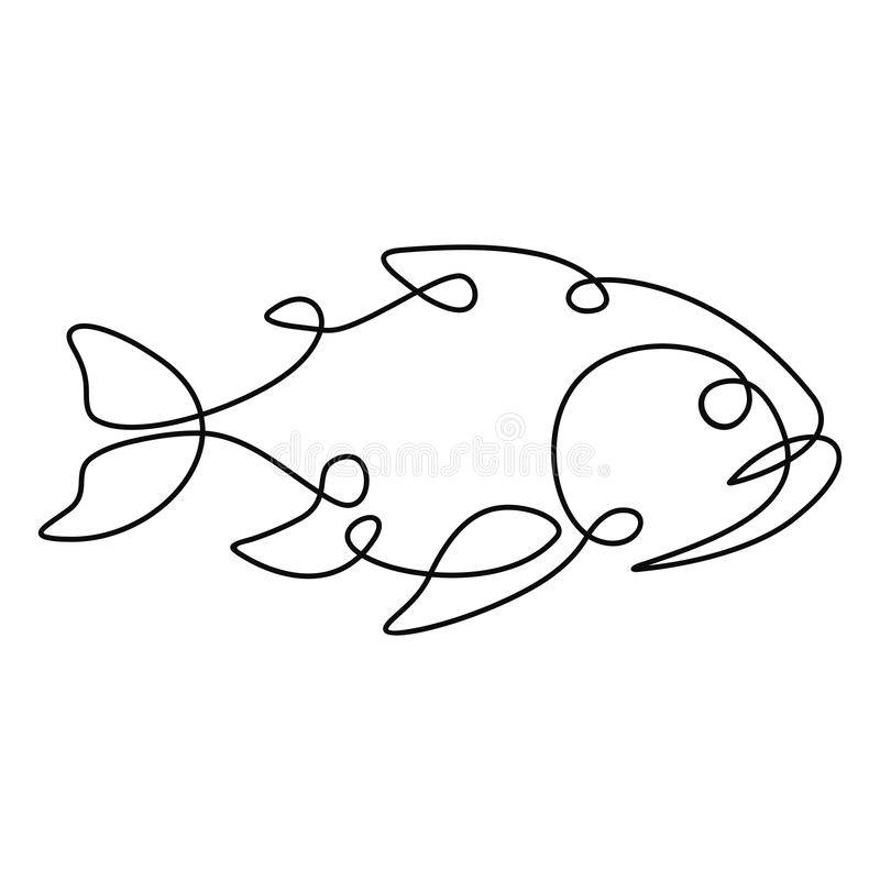 Één lijntekening vector illustratie