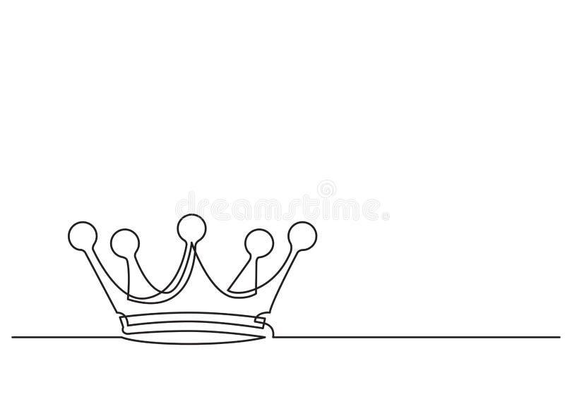 Één lijntekening van geïsoleerd vectorvoorwerp - kroon royalty-vrije illustratie