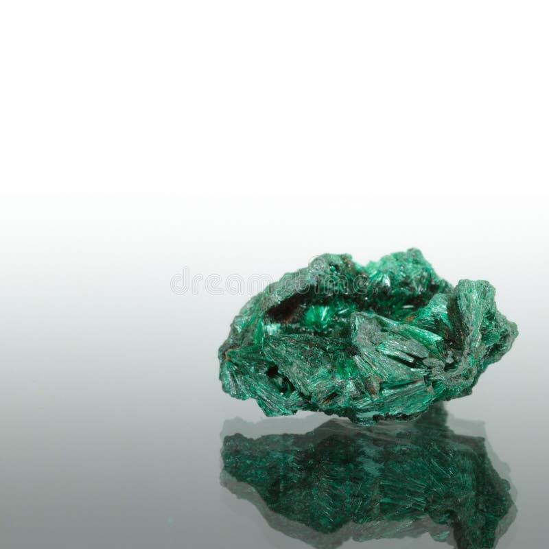 Één malachietmineraal stock afbeelding