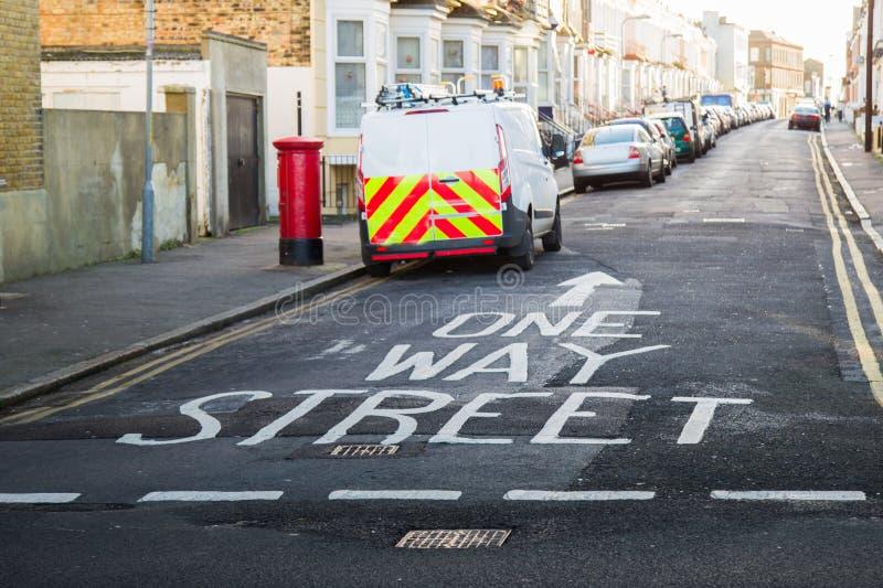 Één manierstraat stock afbeelding
