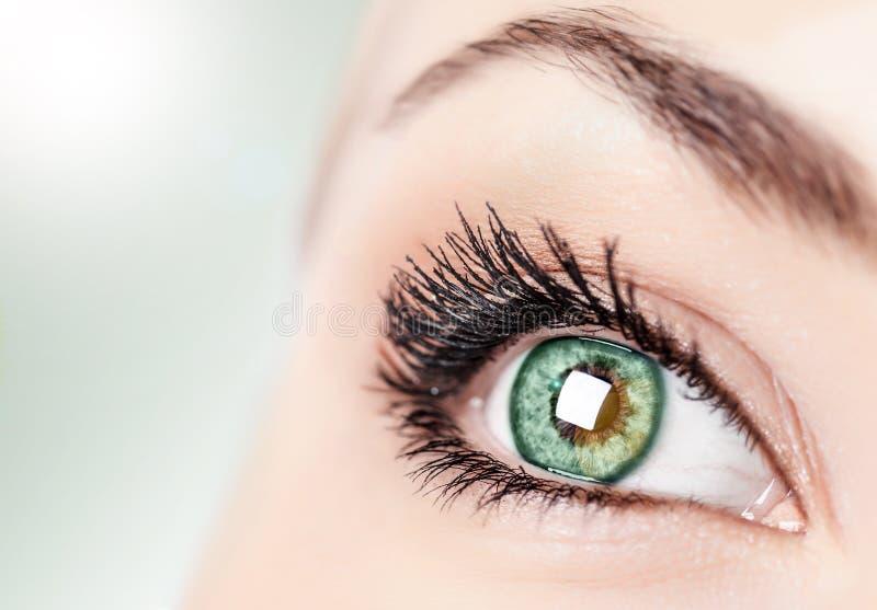 Abstract groen oog royalty-vrije stock foto's