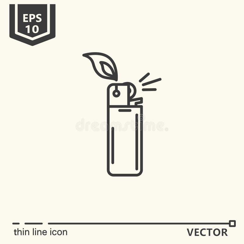 Één pictogram - aansteker royalty-vrije stock afbeelding