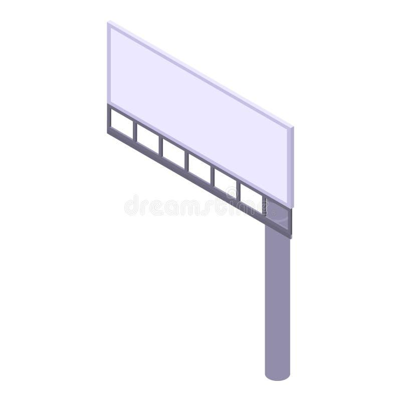 Één pictogram van het pijleraanplakbord, isometrische stijl royalty-vrije illustratie