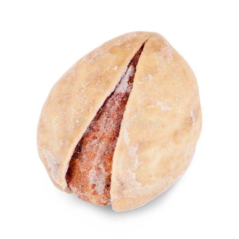 Één pistache stock afbeelding