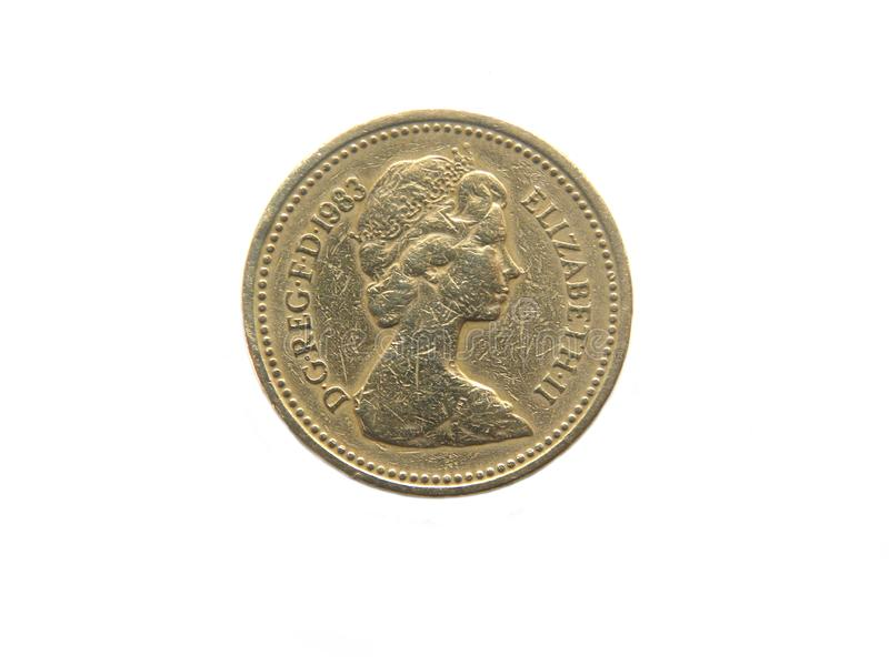 Één pond Brits 1983 muntstuk royalty-vrije stock afbeelding