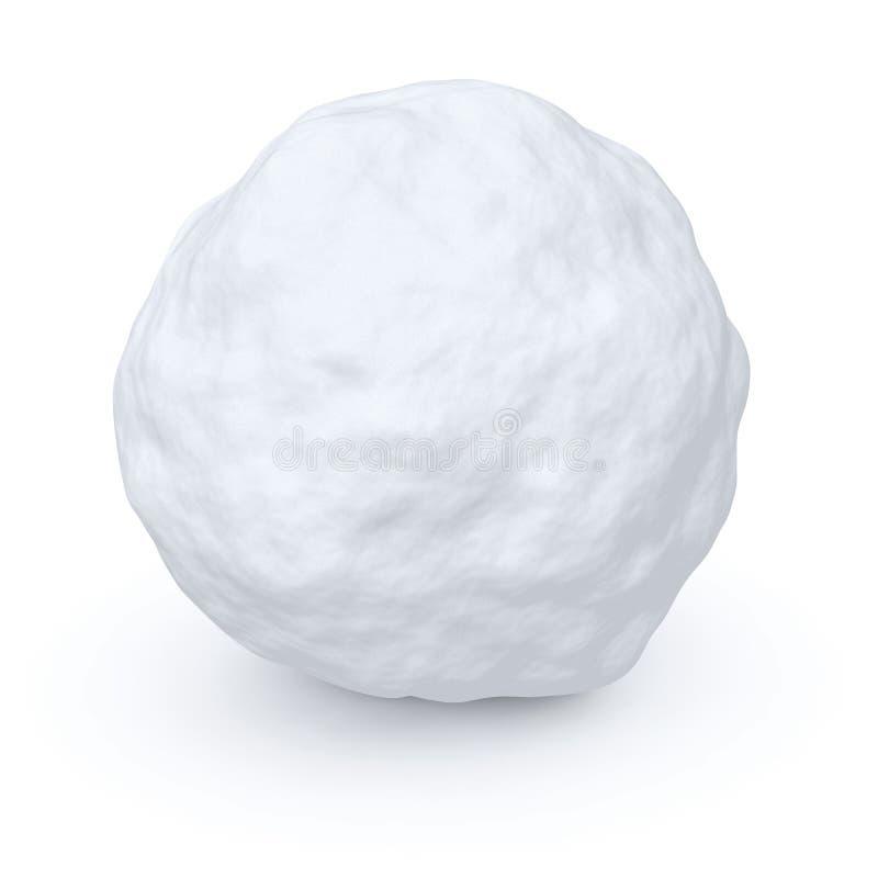 Één sneeuwbal royalty-vrije illustratie