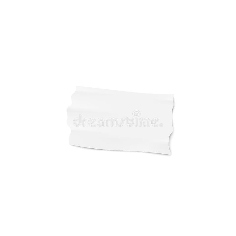 Één stuk van wit kleefstof of afplakband met gescheurde randen realistische stijl vector illustratie