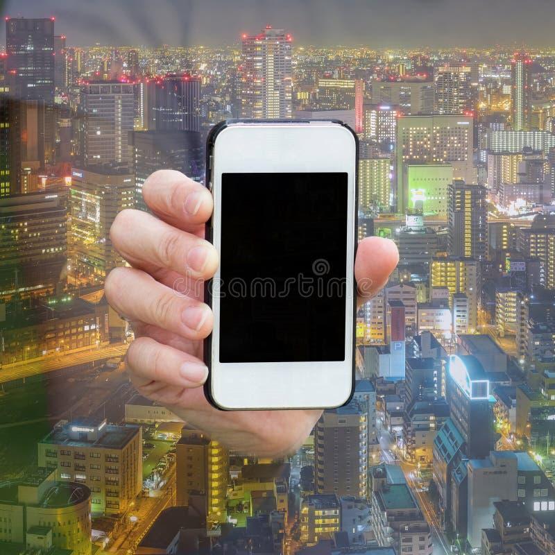 Één toont het lege scherm van smartphone royalty-vrije stock foto