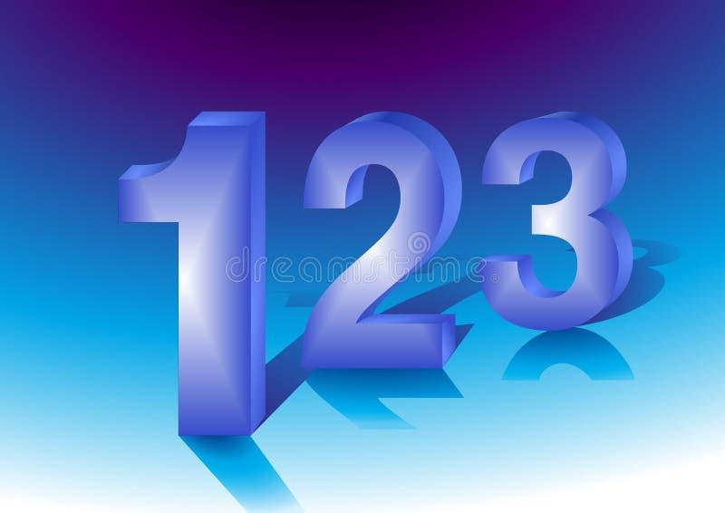 Één-twee-drie vector illustratie