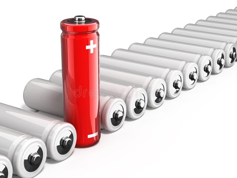 Één unieke batterij vector illustratie