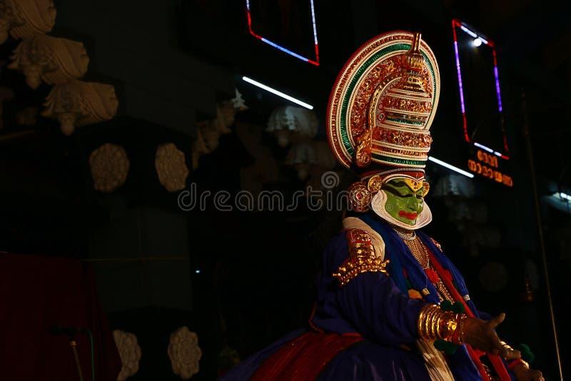 Één van de belangrijkste vormen van de klassieke dans van Kerala stock foto