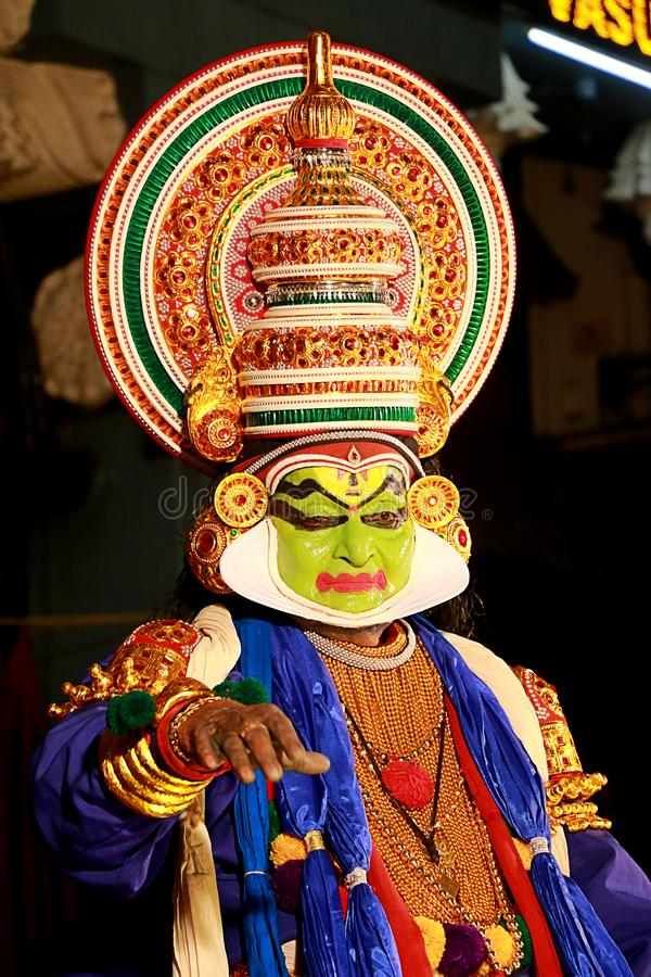 Één van de belangrijkste vormen van de klassieke dans van Kerala royalty-vrije stock afbeeldingen