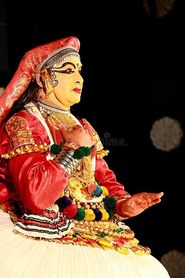 Één van de belangrijkste vormen van de klassieke dans van Kerala royalty-vrije stock foto's