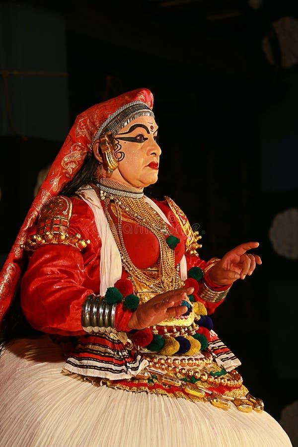 Één van de belangrijkste vormen van de klassieke dans van Kerala stock fotografie