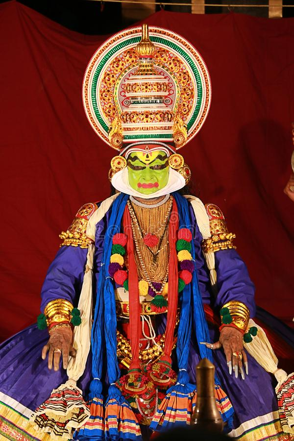 Één van de belangrijkste vormen van de klassieke dans van Kerala royalty-vrije stock afbeelding