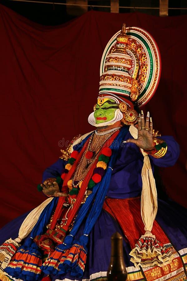 Één van de belangrijkste vormen van de klassieke dans van Kerala stock afbeelding