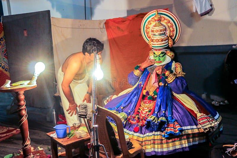 Één van de belangrijkste vormen van de klassieke dans van Kerala Schoonheid, stock afbeeldingen