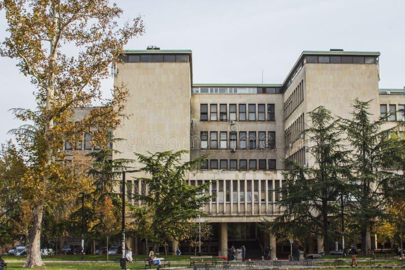 Één van de gebouwen van de Universiteit van Belgrado servië royalty-vrije stock fotografie