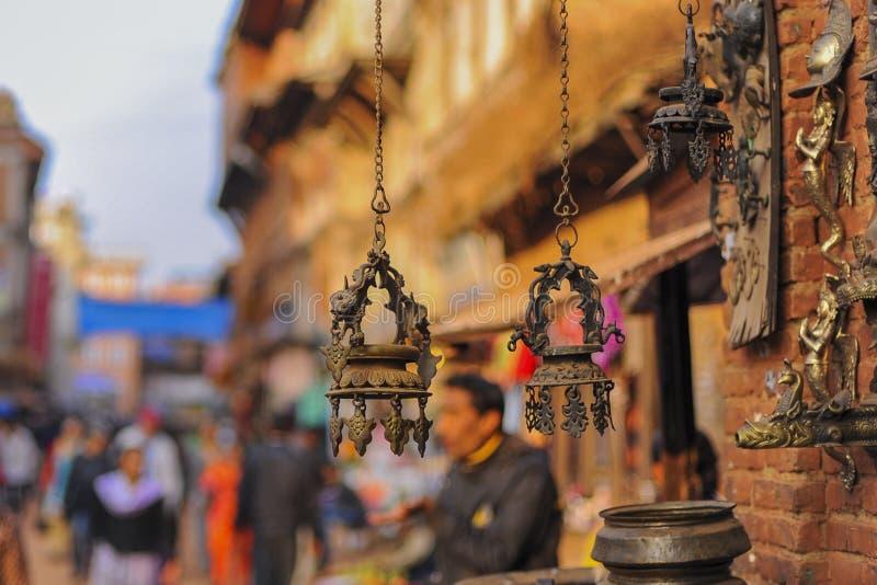 Één van de historische kunst in Bakhtapur Nepal royalty-vrije stock afbeeldingen