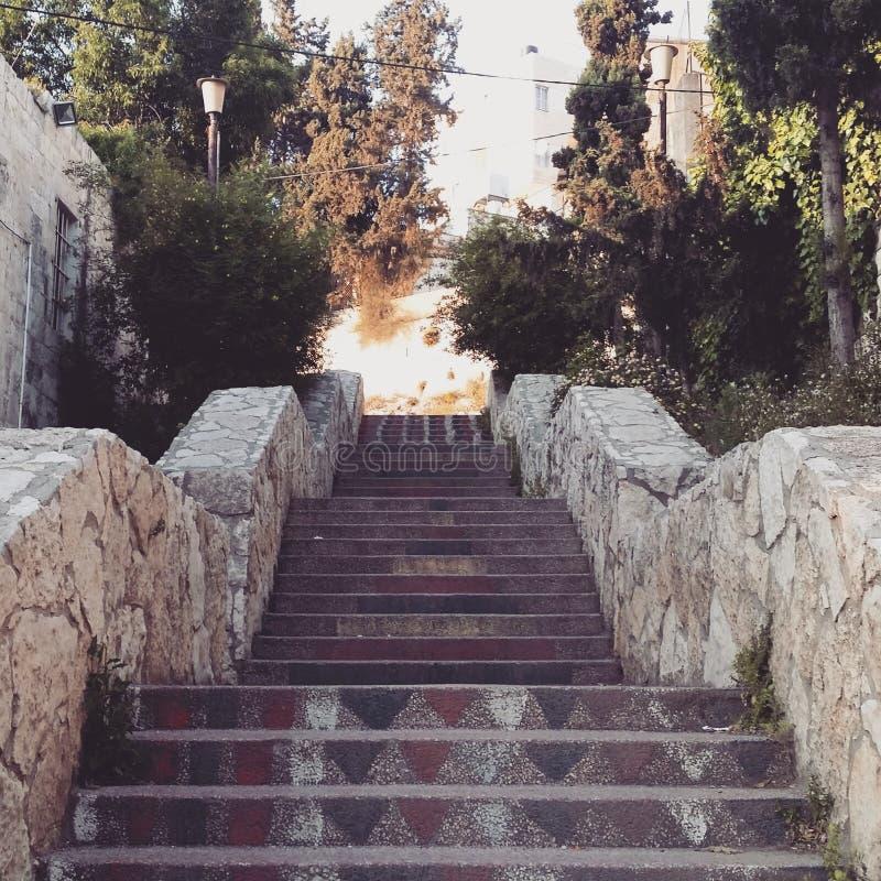 Één van de mooie treden van nablus royalty-vrije stock fotografie