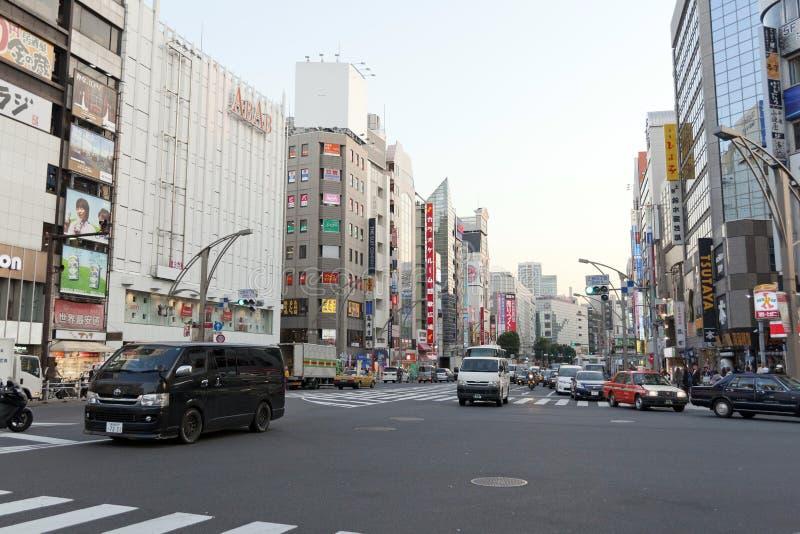 Één van de straten van Ueno-district royalty-vrije stock afbeeldingen