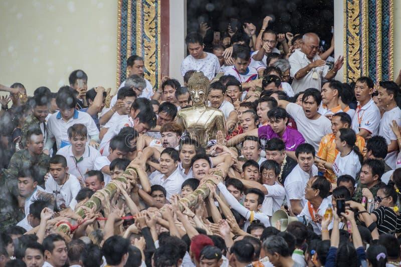 Één van de tradities van noordelijk Thailand stock afbeelding