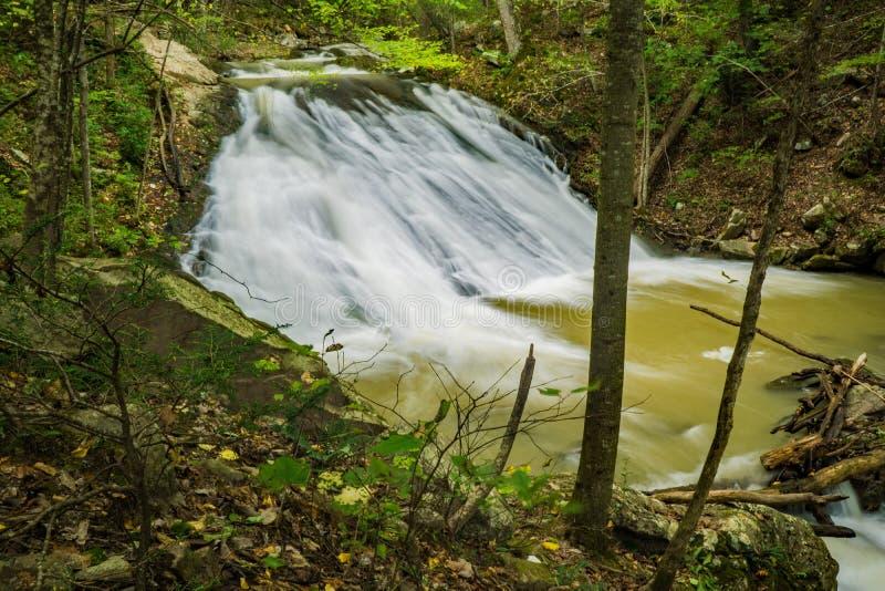 Één van de vele watervallen bij het Gebrul van In werking gestelde Kreek stock afbeelding