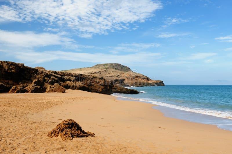 Één van mooiere oorspronkelijke Pilon DE Azucar stranden in Colombia stock afbeeldingen
