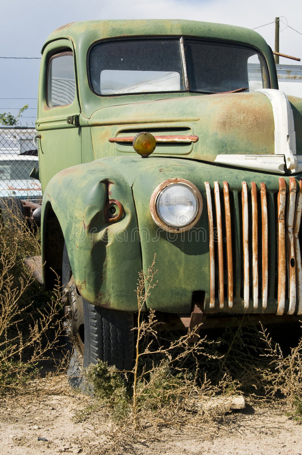 Één van oude vrachtwagens Henrys royalty-vrije stock foto