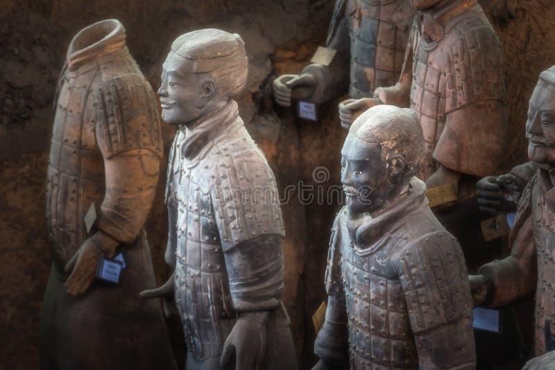 Één van Unesco-Erfenisplaats; Terracottastrijders; Herstelde Terra stock fotografie