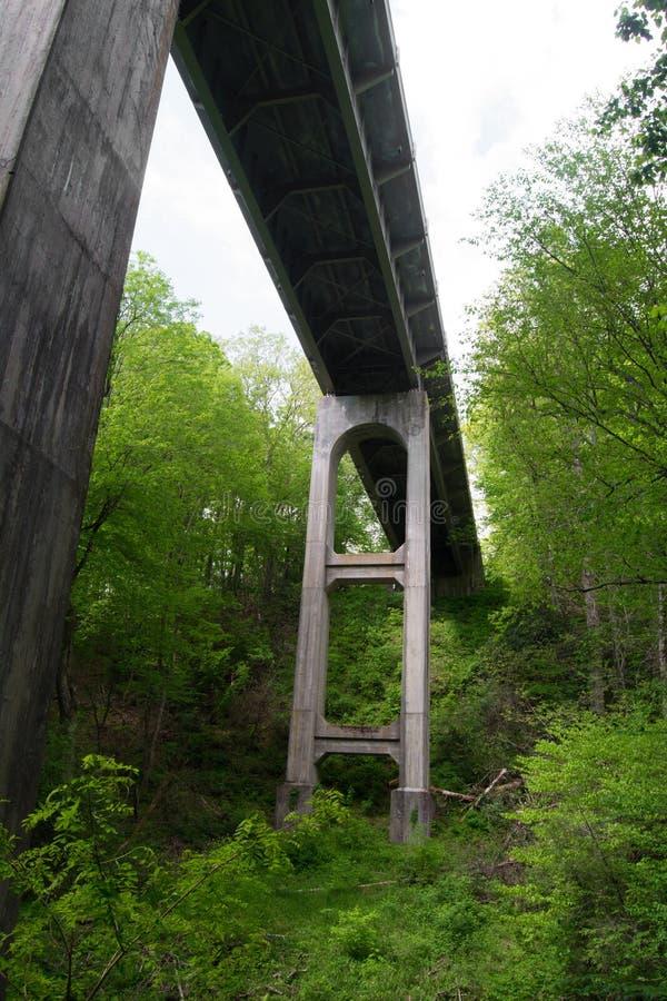 Één van vele Bruggen op Blauw Ridge Parkway, Virginia, de V.S. stock afbeelding