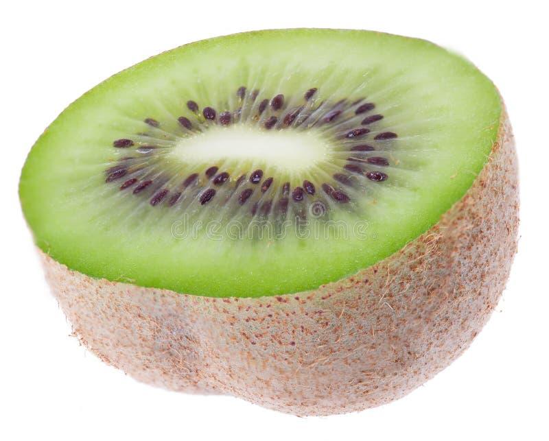 Één vers groen kiwifruit royalty-vrije stock afbeeldingen