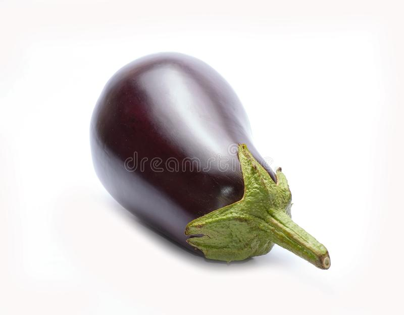 Één verse aubergine royalty-vrije stock fotografie