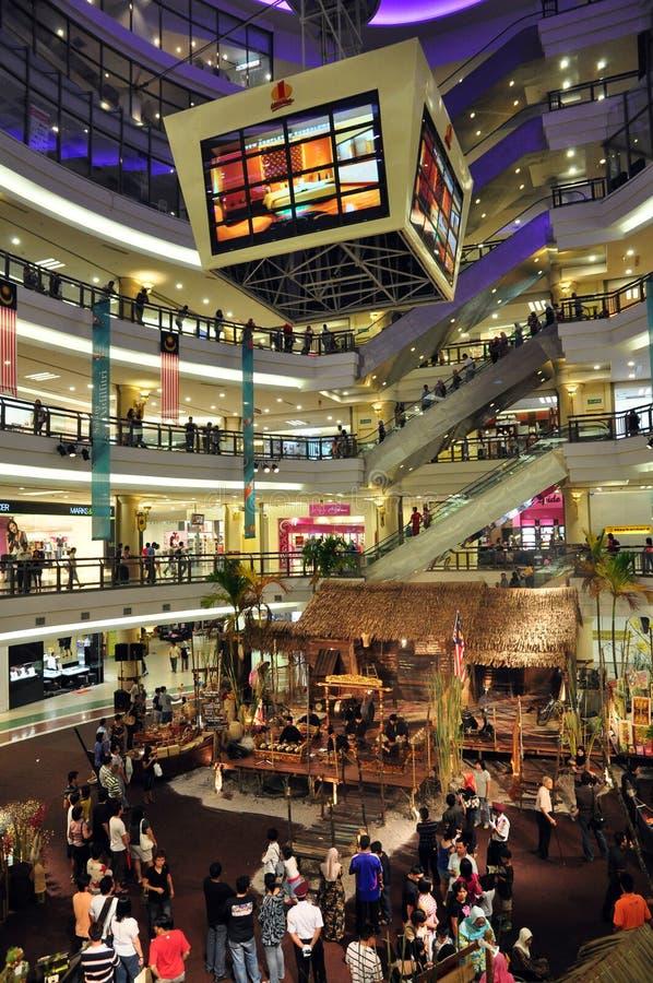 Één Winkelcomplex Utama stock foto