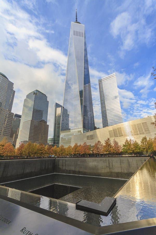 Één World Trade Center stock fotografie