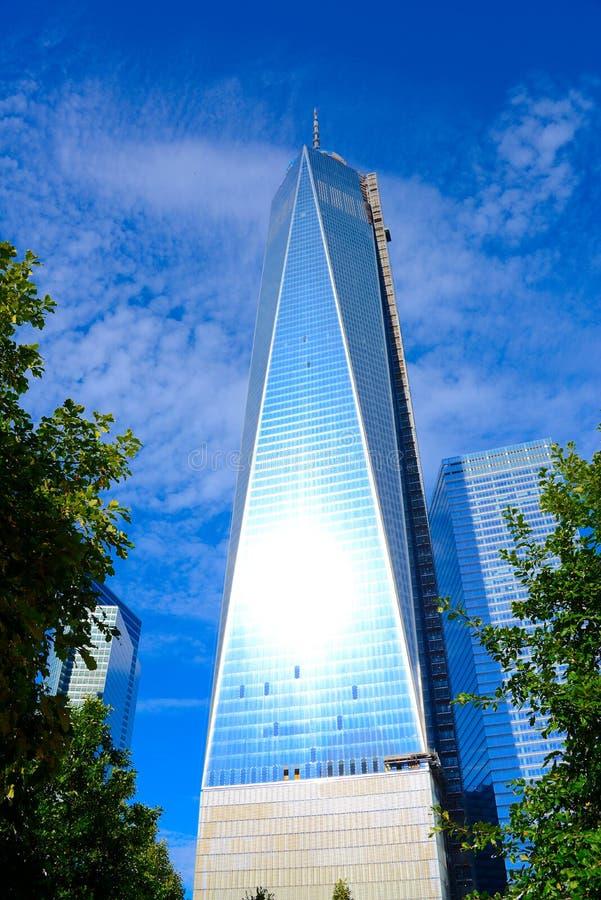 Één World Trade Center stock foto's