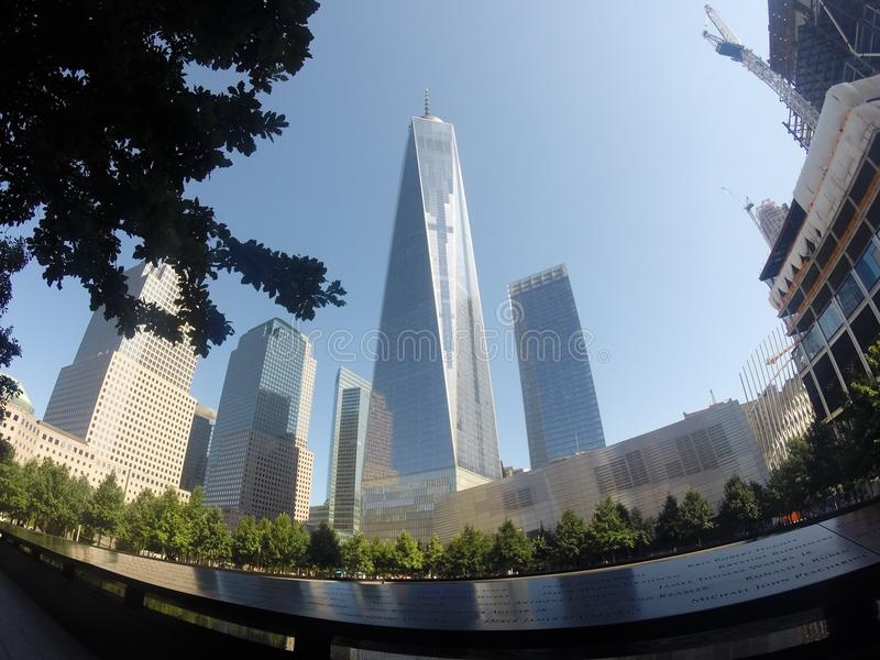 Één World Trade Center stock afbeelding