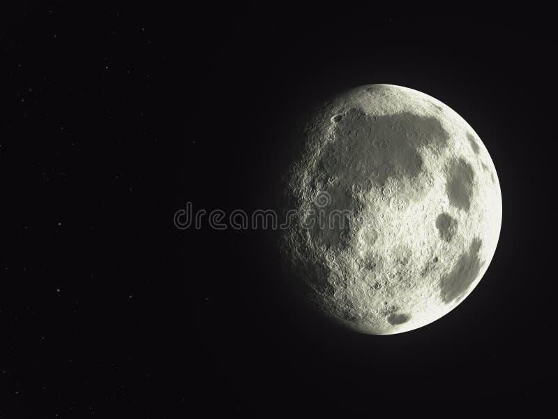 Één zijschaduw van lege asteroïde royalty-vrije illustratie