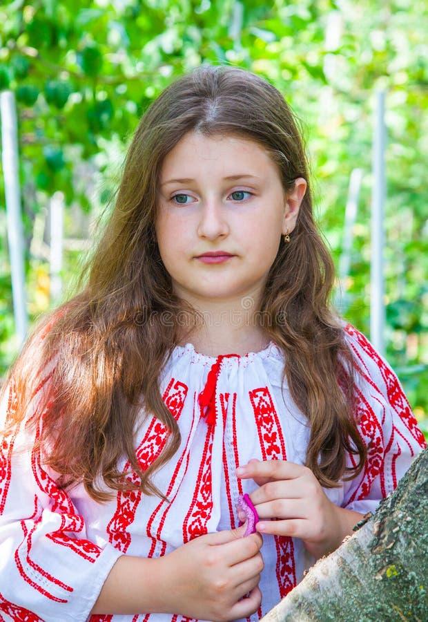 10 éénjarigenmeisje stock afbeelding