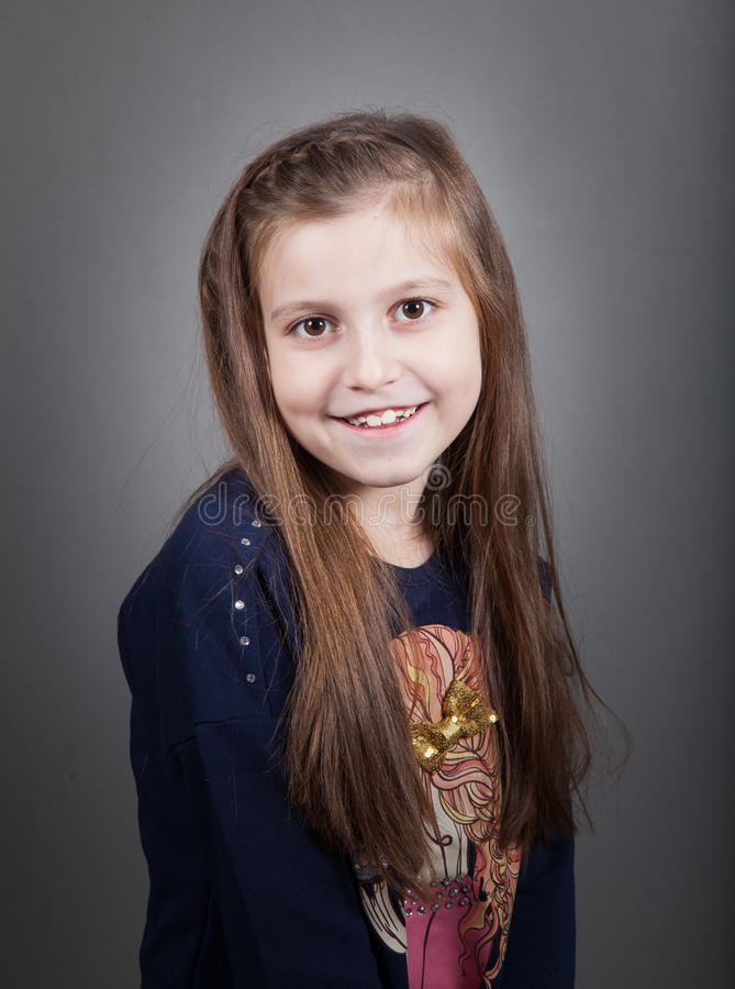8 éénjarigenmeisje royalty-vrije stock foto's