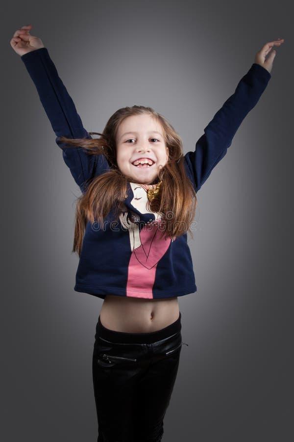 8 éénjarigenmeisje royalty-vrije stock afbeeldingen