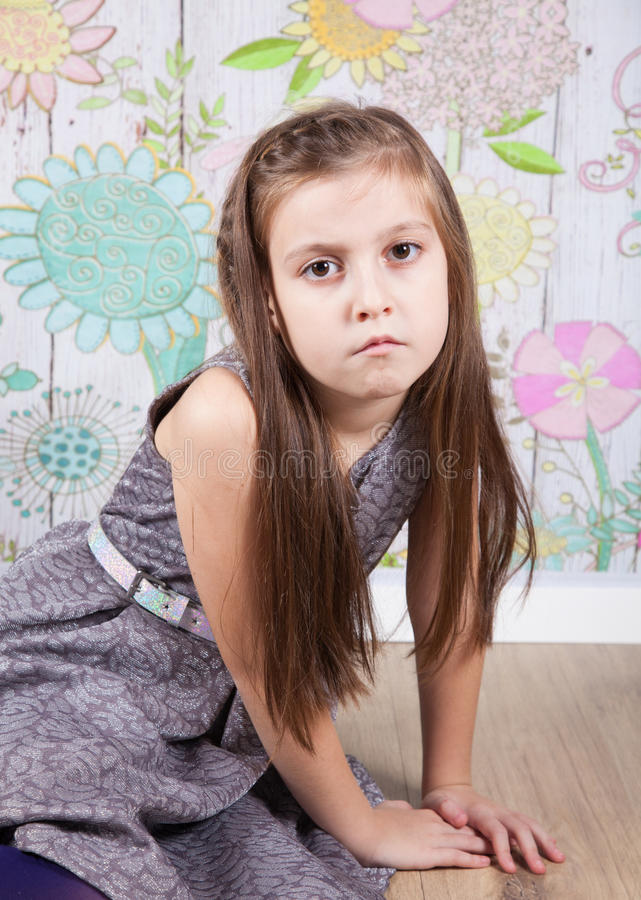 8 éénjarigenmeisje royalty-vrije stock foto