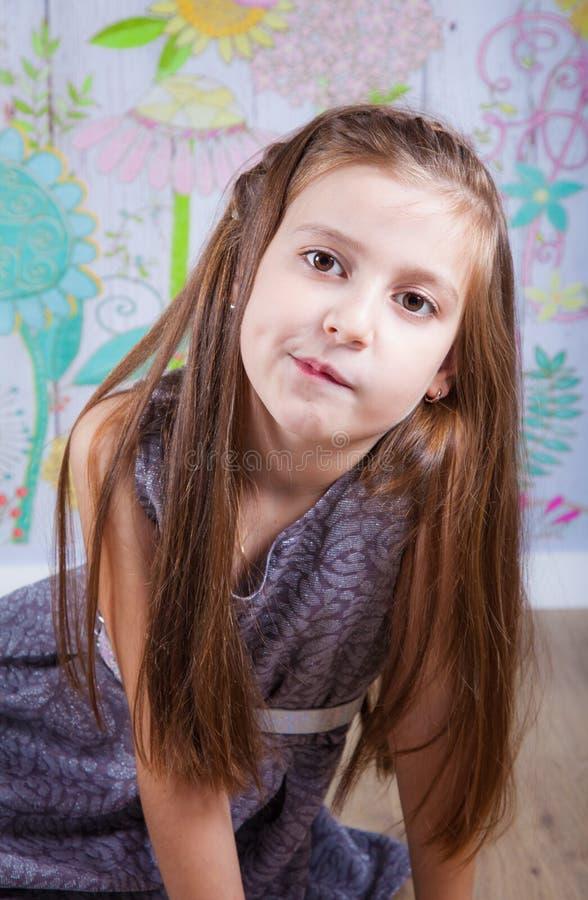 8 éénjarigenmeisje stock foto's