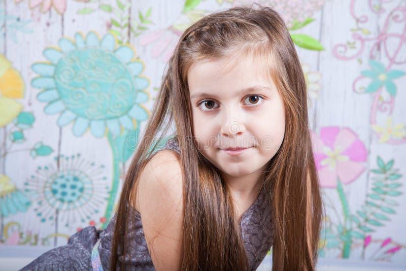 8 éénjarigenmeisje royalty-vrije stock fotografie