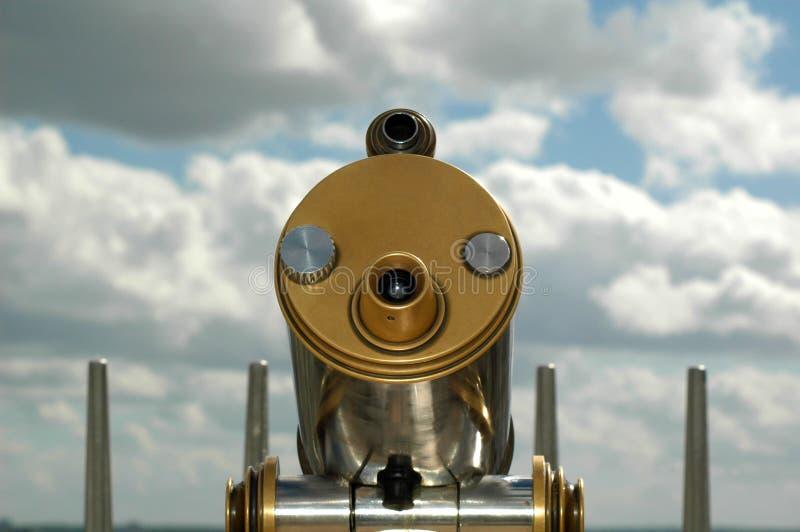 Éénogige telescoopclose-up stock foto