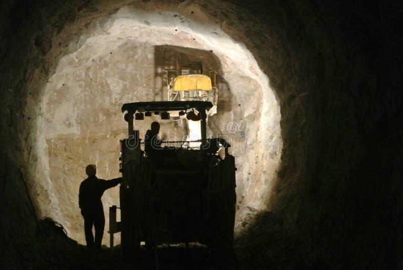 隧道建筑,东部Hercegovina 免版税库存图片