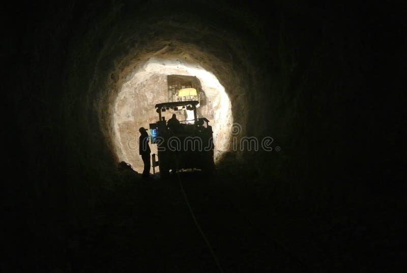 隧道建筑,东部Hercegovina 免版税库存照片