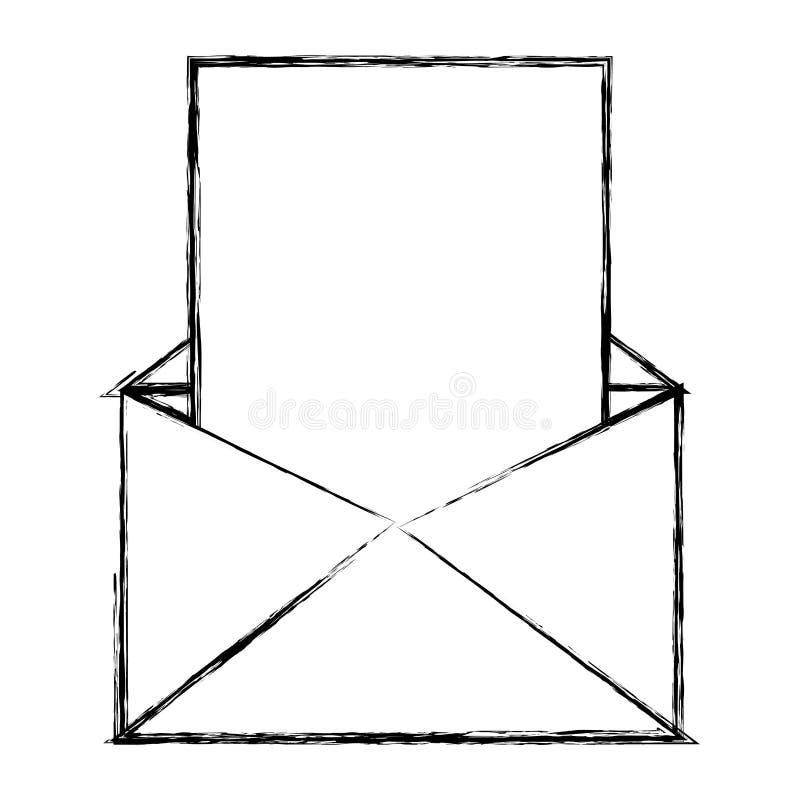 难看的东西与文件文本信息的电子邮件 向量例证