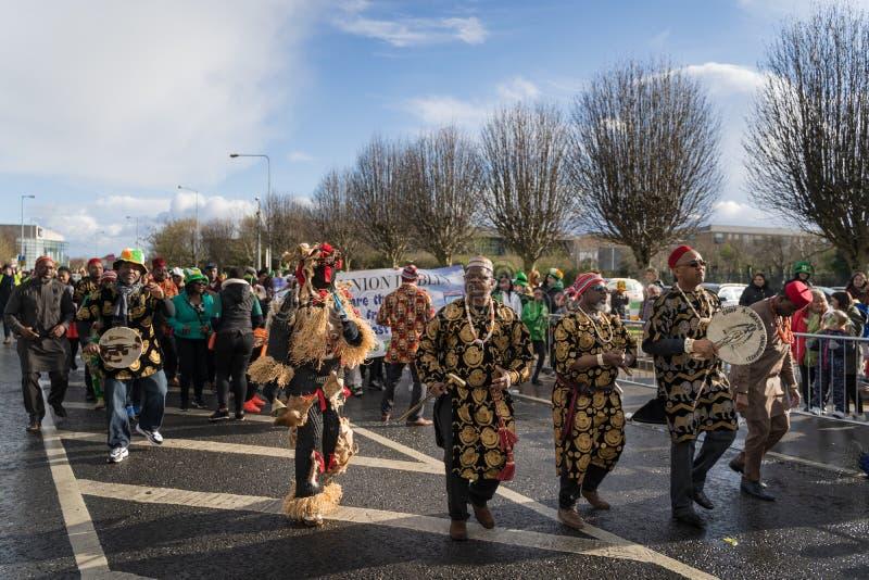 都伯林,爱尔兰2019 3月17日圣Patrics天游行 免版税图库摄影